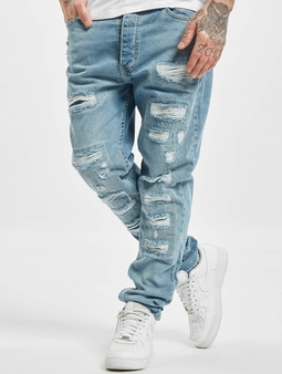 DEF Carl Straight Fit Jeans Light Blue Denim