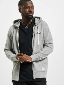 Jack & Jones jorTons Sweat Zip Hoody Light Grey Melange/Melange