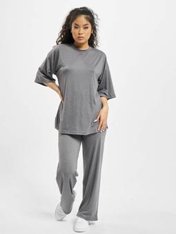 Missguided Coord Jersey T-Shirt Wide Leg Trouser Set