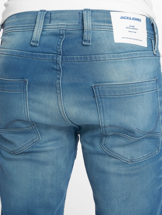 Jack & Jones jjiTim jjLeon Slim Fit Jeans Blue Denim image number 4