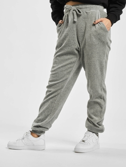 Missguided Ribbed Velour Lounge Jogger Sweat Pants
