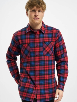 Urban Classics Checked Flanell Shirt Red/Royal