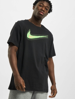 Nike M Nsw Swoosh 12 Month T-Shirt Black/Mean Green