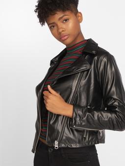 Urban Classics Faux Leather Biker Jacket