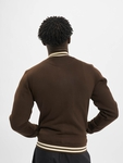Urban Classics Contrast Sweat College Jacket Brown/Beige image number 1