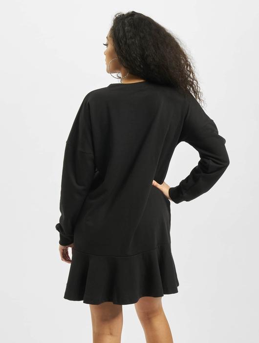 Missguided Frill Hem Sweater Dress Black image number 1
