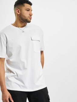 Urban Classics Oversized Big Flap Pocket T-skjorter hvit