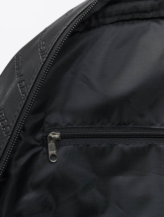Urban Classics Imitation Leather Backpack Black image number 6