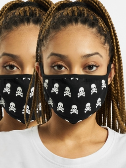 Mister Tee Skull Face Mask 2-Pack Other Black/White