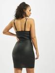 Missguided Coated Zip Through Denim Cami Dress Black image number 1