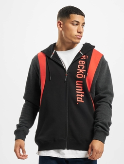 Ecko Unltd. Daly Zip Hoody Black Red Anthrazit