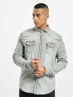 Brandit Riley Denim Skjorter grå
