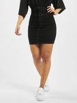 Missguided Corset Waist Denim Black Skirt Black image number 2
