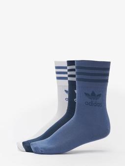 Adidas Originals 3 Pack Mid Cut Crew Socks Crew Blue/Crew Navy