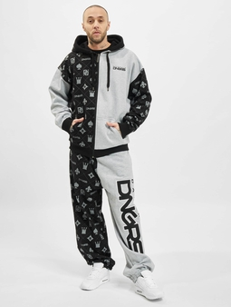 Dangerous DNGRS Half Crown & Kings Sweatsuit Black Grey Melange