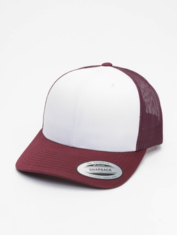 Flexfit Retro Colored Front Trucker Cap Maroon/White/Maroon