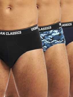 Urban Classics Brief 3-Pack Boxershort Midnight Navy/Blue