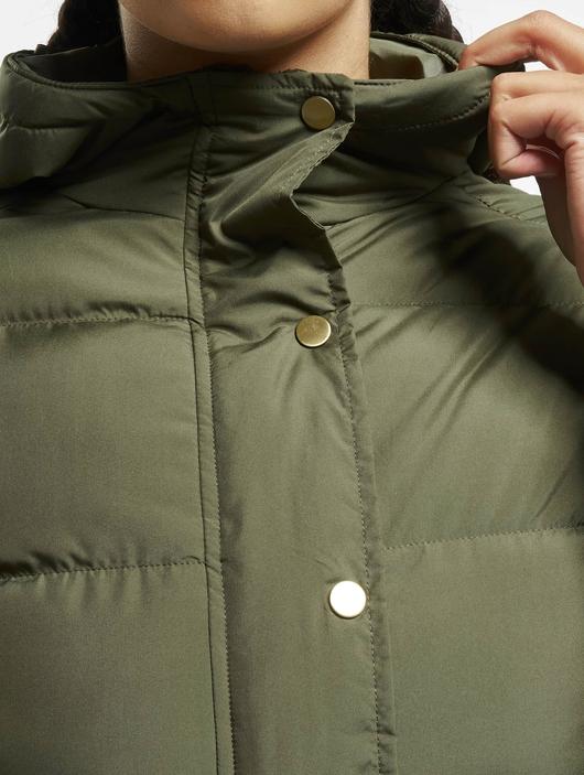 Urban Classics Hooded Puffer Jacket Dark Olive image number 6