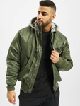 Brandit MA1 Sweat Zip Hoody Olive/Grey image number 0