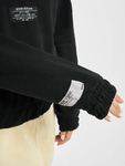 Only onlKira Life Half Zip Sweatshirt Black image number 5