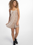 Urban Classics Velvet Slip Dress Beige
