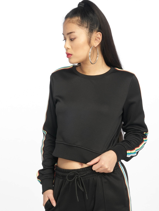 Urban Classics Multicolor Taped Sleeve Sweatshirt Black image number 0