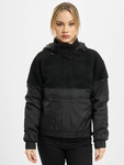 Urban Classics Ladies Sherpa Mix Pull Over Winter Jackets image number 2