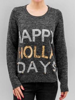 Noisy May NMBElly Knit Sweatshirt Snow