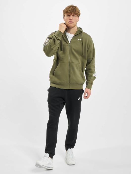 Nike Repeat Fleece Full Zip Hoodie Black/Reflective Silvern image number 5