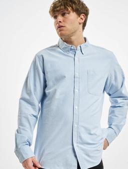 Urban Classics Basic Oxford T-Shirt Blue/Wht