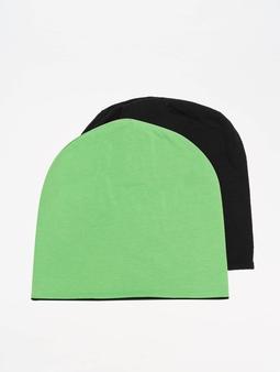 Masterdis Jersey Reversible Beanie Black/Neon Green (Standar