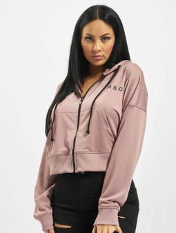 Missguided Front Zip Hoody Mauve
