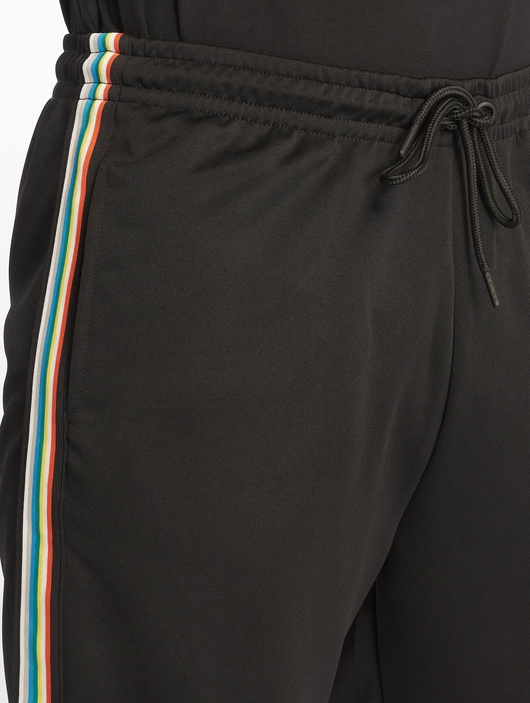 Urban Classics Side Taped Track Shorts Black/Grey image number 3