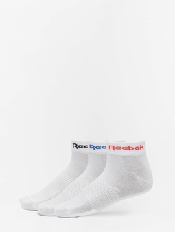 Reebok Act Core Ankle Socks White/Dynamic Red/Court Blue