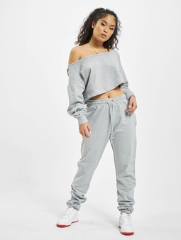 Missguided Coord Off The Shoulder Sweatshirt & Sweat Pants