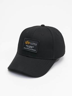 Alpha Industries Crew Snapback Cap Black