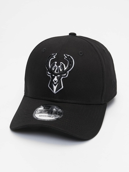 New Era Nba Properties Milwaukee Bucks Black Base 9forty Snapback Cap Black