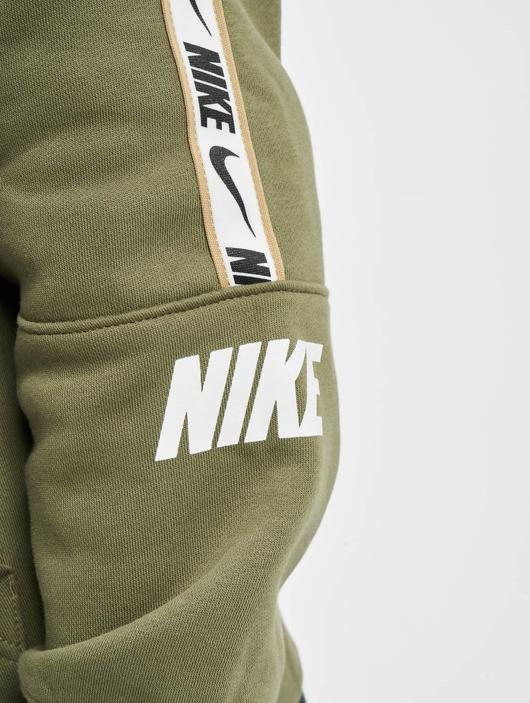 Nike Repeat Fleece Full Zip Hoodie Black/Reflective Silvern image number 4