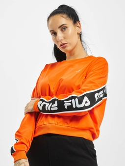 Fila Bianco Tallis Sweatshirt Orange Popsicle