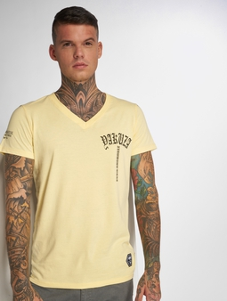 Yakuza Skull V02 T-Shirt Light Grey Melange