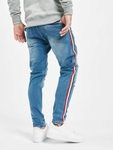 VSCT Clubwear Keanu Multi Colour Stripe Slim Fit Jeans Midblue image number 1