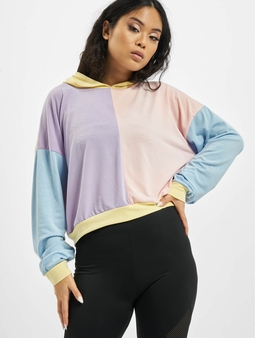 Missguided 4 Way Colour Block Over Size Hoody Multi
