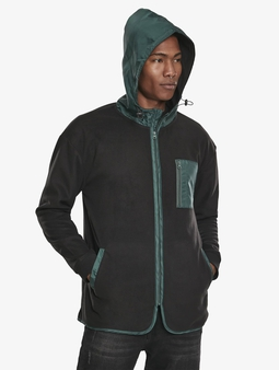 Urban Classics Contrast Polar Fleece Zip Hoody