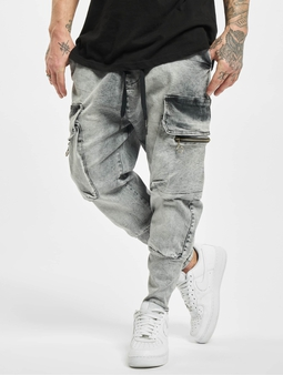 Vsct Clubwear Logan Antifit Denim Cargo Pants Sky Grey