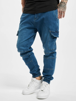 Urban Classics Cargo  Chino bukser blå