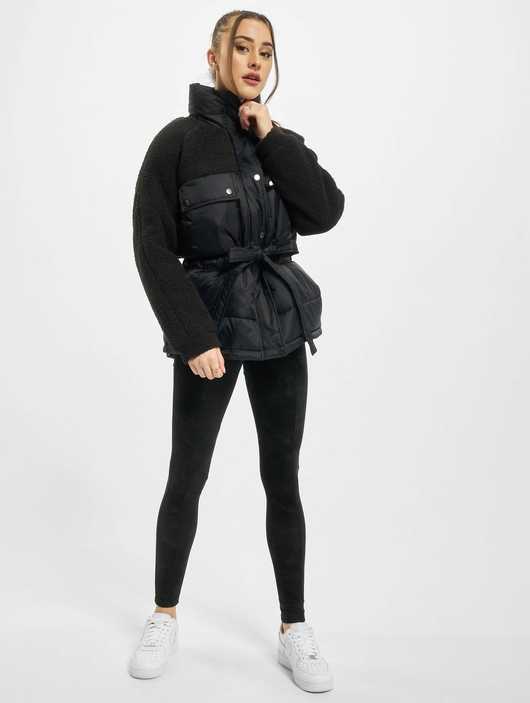 Urban Classics Ladies Sherpa Mix  Puffer Jackets image number 4