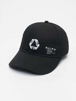 Cayler & Sons Iconic Peace Curved Cap Snapback Cap Black/White