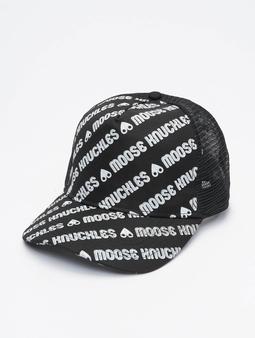 Moose Knuckles Snapback Cap Logo Mania Print