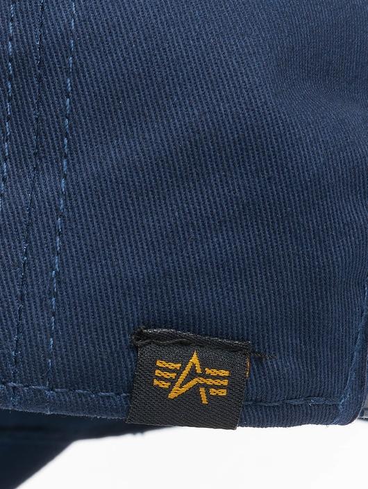 Alpha Industries Alpha Snapback Cap Rep Blue image number 3