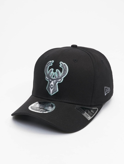New Era Nba Properties Milwaukee Bucks Neon Pop Outline 9fifty Snapback Cap Black